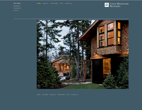 Cold Mountain Builders Website